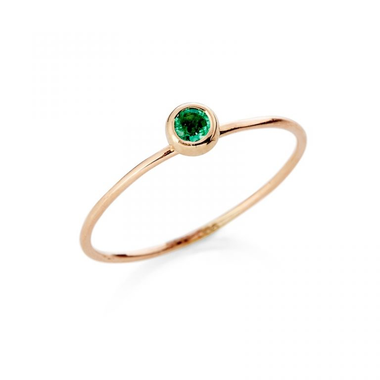 Guldring med smaragd