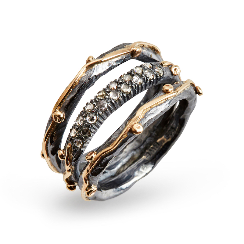 Zeus Tribeca Pave ring By Birdie