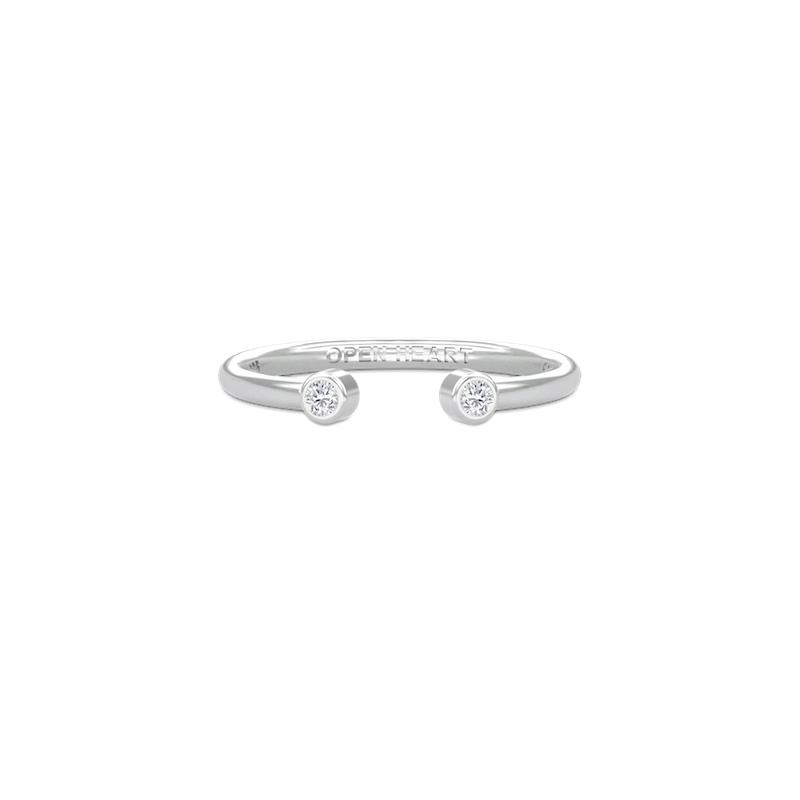 open heart ring sølv