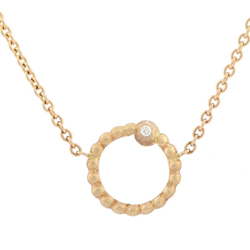 Visholm cirkel halskæde med diamant 7f665c854bae2